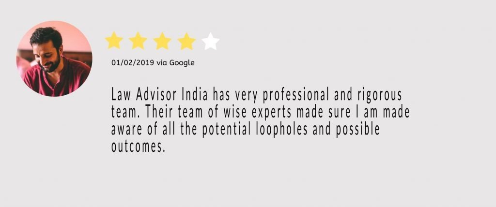 law advisor India NRI legal consultancy testimonial 1