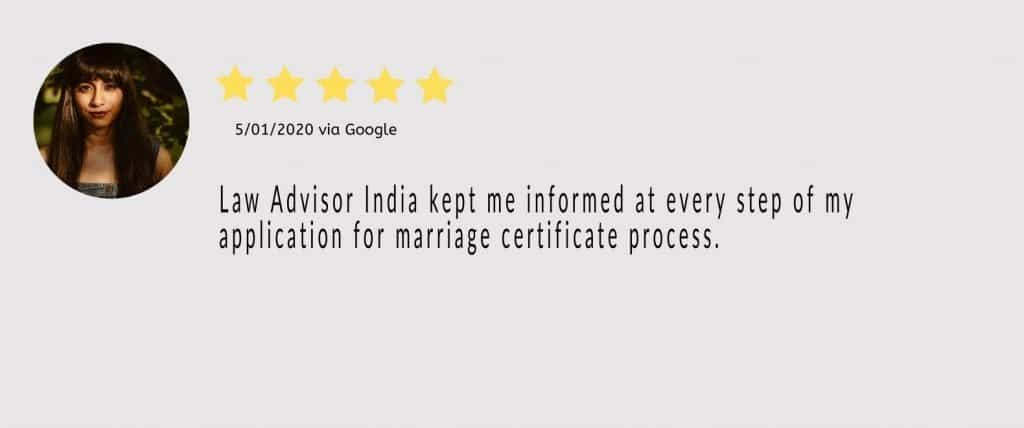 law advisor india marriage certificate 2