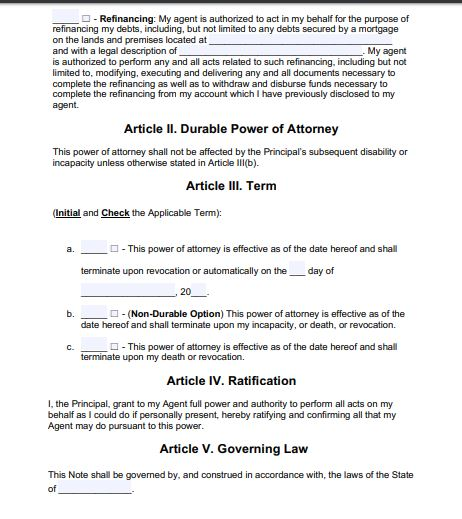 General Power of Attorney format for rent of property in India from USA 2/5 by Law Advisor India