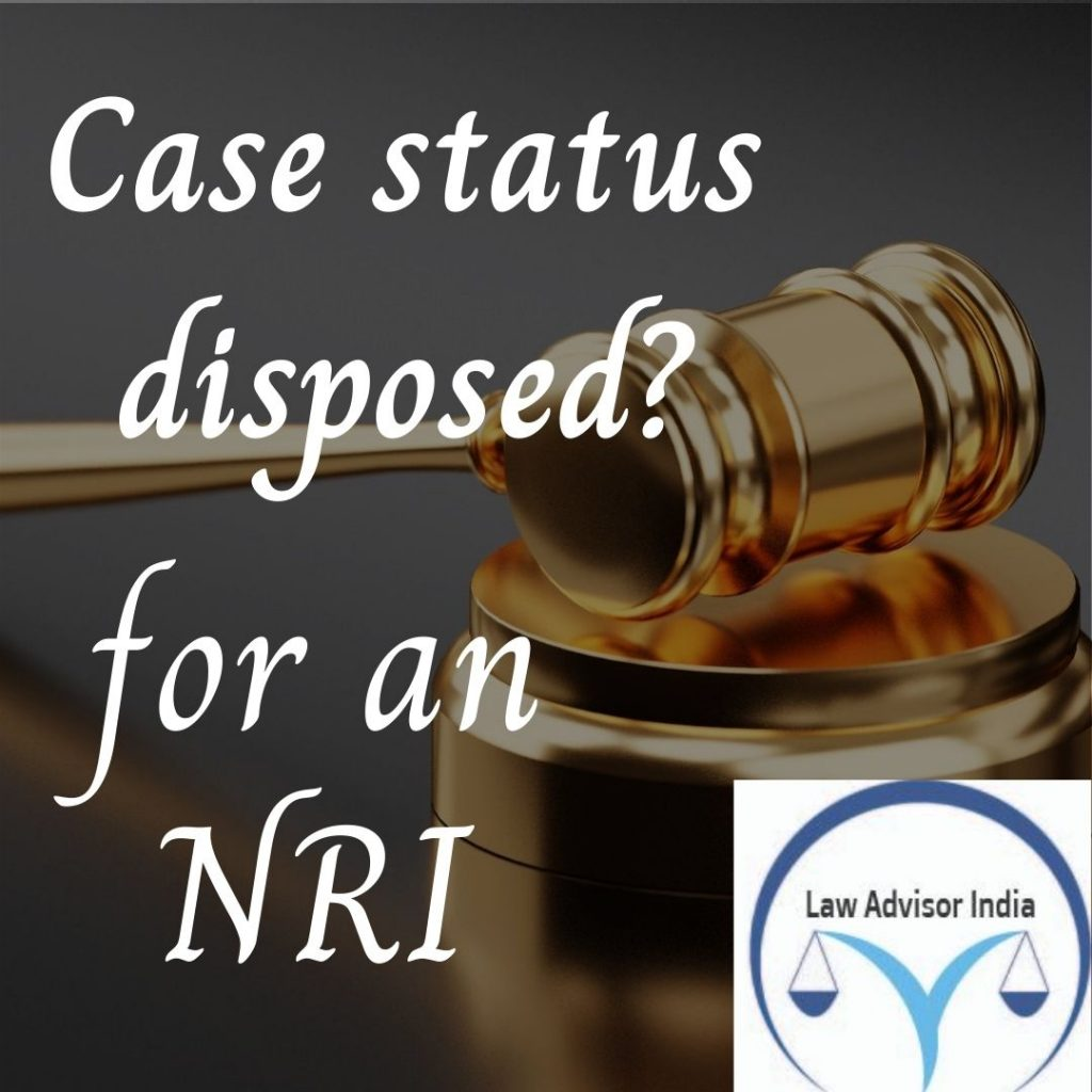 Case status disposed meaning?