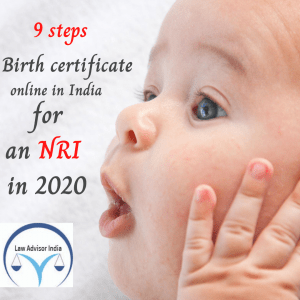9 steps to get birth certificate from India online