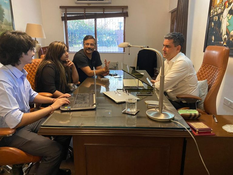 TEAM AT WORK for Interview with Manu Sharma